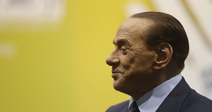 Former Italian premier Silvio Berlusconi attends the Seeds&Chips - Global Food Innovation summit, in Milan, Italy, Monday, May 8, 2017. United States former President Barack Obama will speak at the summit Tuesday.