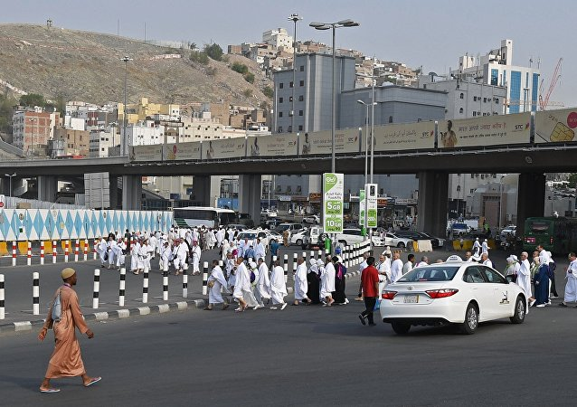 Pilgrims during hadj in Mecca. (File)
