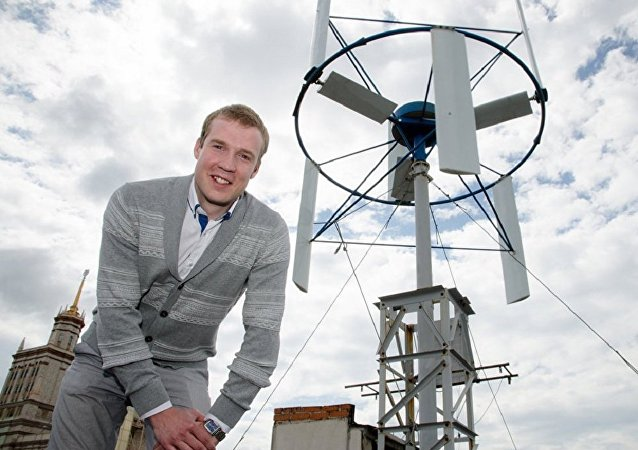 Yevgeny Sirotikin, wind turbine specialist from South Ural State University