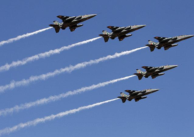Indian air force Jaguar fighter aircrafts (File)