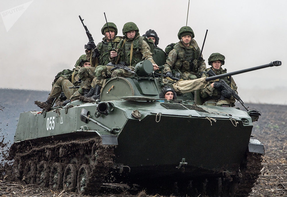 Servicemen of the Russian Airborne Forces