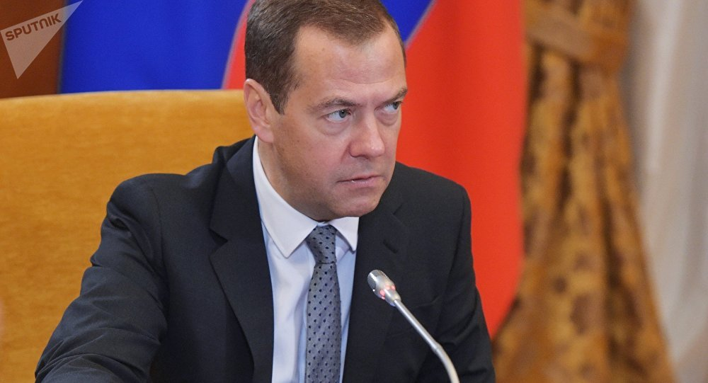 Prime Minister Dmitry Medvedev at Skolkovo Foundation Board of Trustees meeting