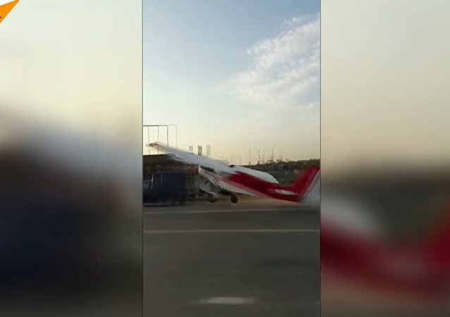 Plane Bumps Into A Car