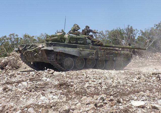 Syrian army forces near Salba