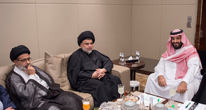 Saudi Crown Prince Mohammed bin Salman meets with Iraqi Shi'ite leader Muqtada al-Sadr in Jeddah, Saudi Arabia July 30, 2017