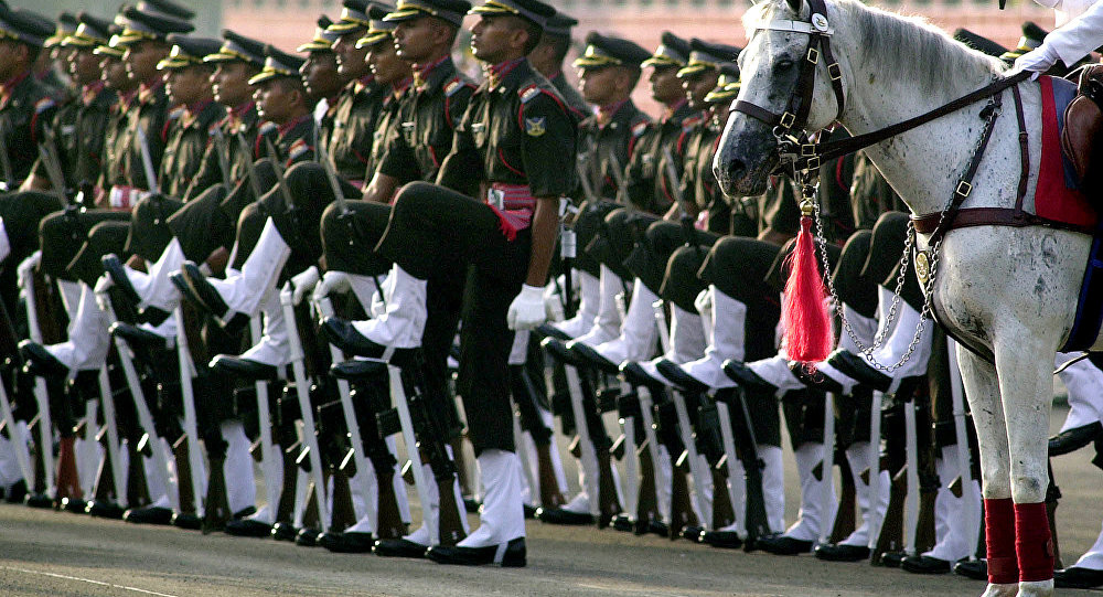 Gentlemen cadets are seen at the Passing Out Parade at Officers Training Academy (OTA) in Madras, India. (File)