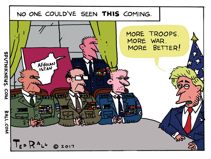 Trump Afghanistan Cartoon