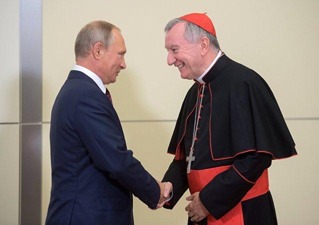 Russian President Vladimir Putin's meeting with Vatican Secretary of State Pietro Parolin