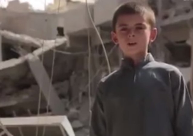 Yousuf, a seven-year-old boy claiming to be the son of a US soldier in a Daesh propaganda video.
