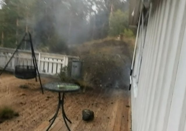 Man films lightning that strikes 5 metres away, destroying his backyard