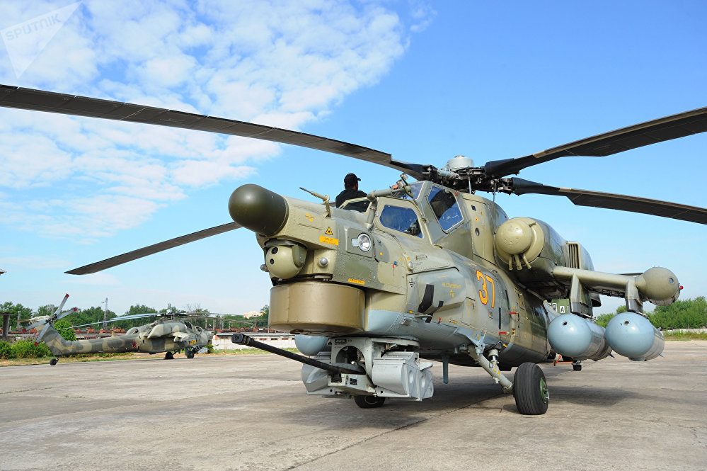 A Mil Mi-28-NE Havoc (Night Hunter) attack helicopter
