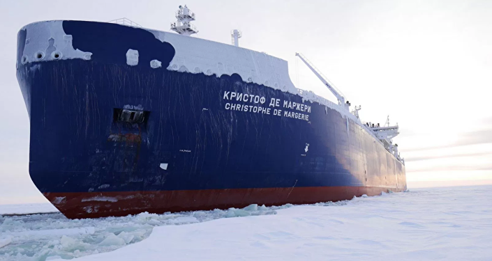 Russian-owned liquid natural gas tanker ship the Christophe de Margerie has made the first unaided transit of the Northern Sea Route.