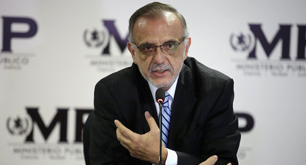 Commissioner of the International Commission Against Impunity in Guatemala (CICIG) Ivan Velasquez speaks during a news conference in Guatemala City, Guatemala