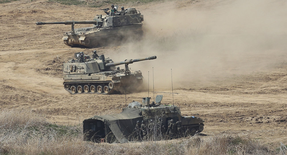 K-9 self-propelled howitzers