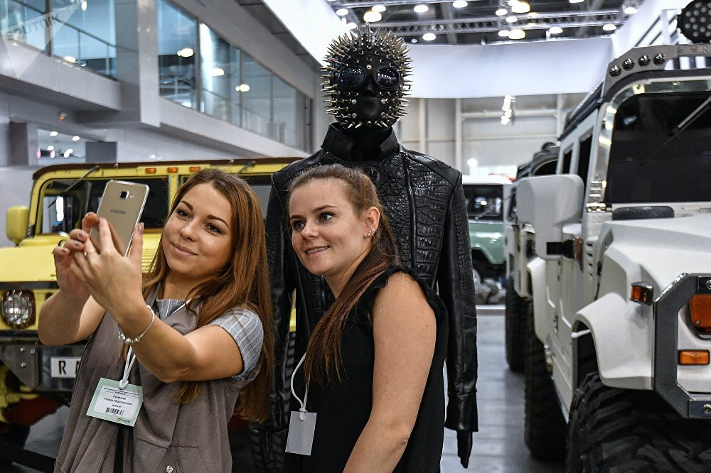 'Monster Trucks' at Moscow Off-Road Show Exhibition