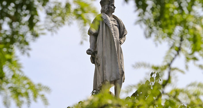 Christopher Columbus statue in Manhattan.