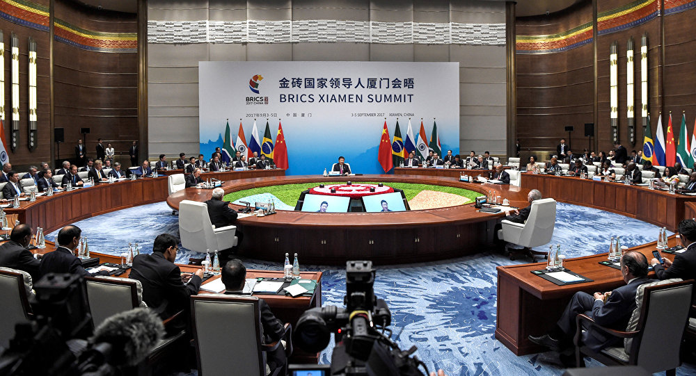 The BRICS Summit in Xiamen, Fujian province on September 4, 2017