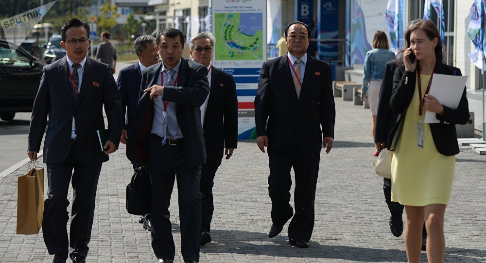 A North Korean minister of economic relations with foreign countries ahead of the Eastern Economic Forum in Vladivostok.