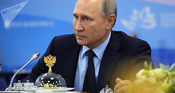 Russian President Vladimir Putin during a meeting with representatives of foreign business circles as part of the 3rd Eastern Economic Forum