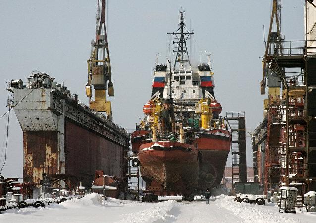 Russia's shipyard Zvezda