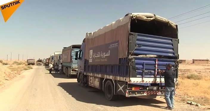The First Humanitarian Corridor In Deir ez-Zor