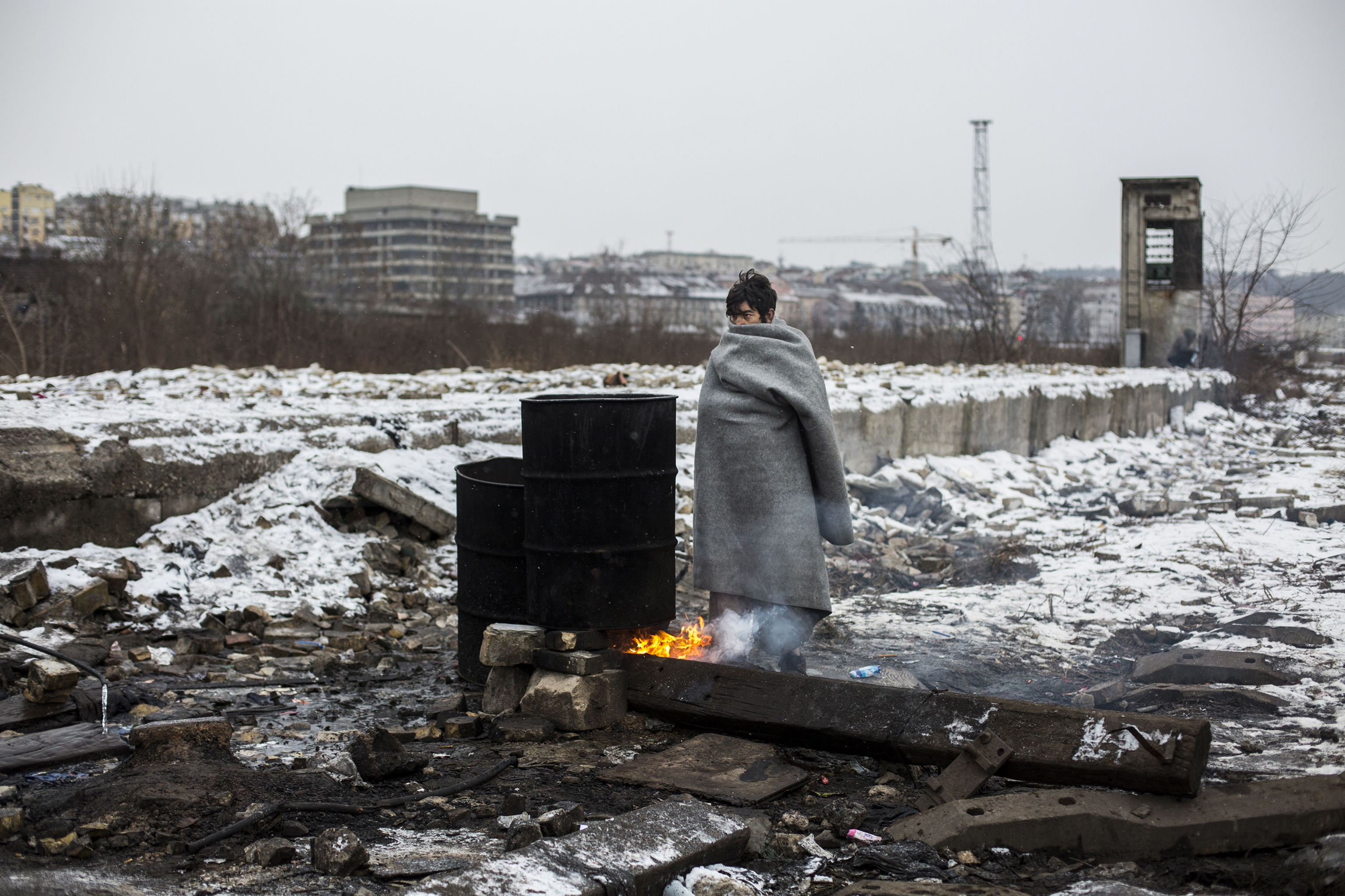 Alejandro Martinez Velez, Spain. Migrants in Belgrade.
