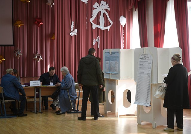 Voting day in Moscow