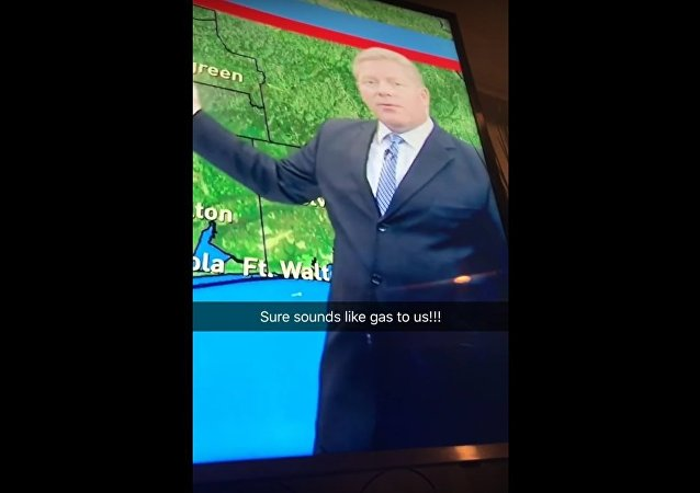 Weatherman Breaks Wind LIVE on air