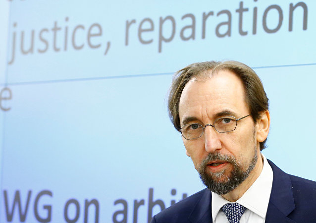 Zeid Ra'ad Al Hussein, U.N. High Commissioner for Human Rights arrives at the 36th Sesssion of the Human Rights Council at the United Nations in Geneva, Switzerland