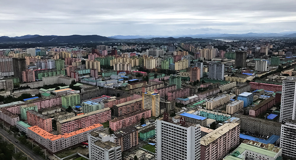A view of Pyongyang