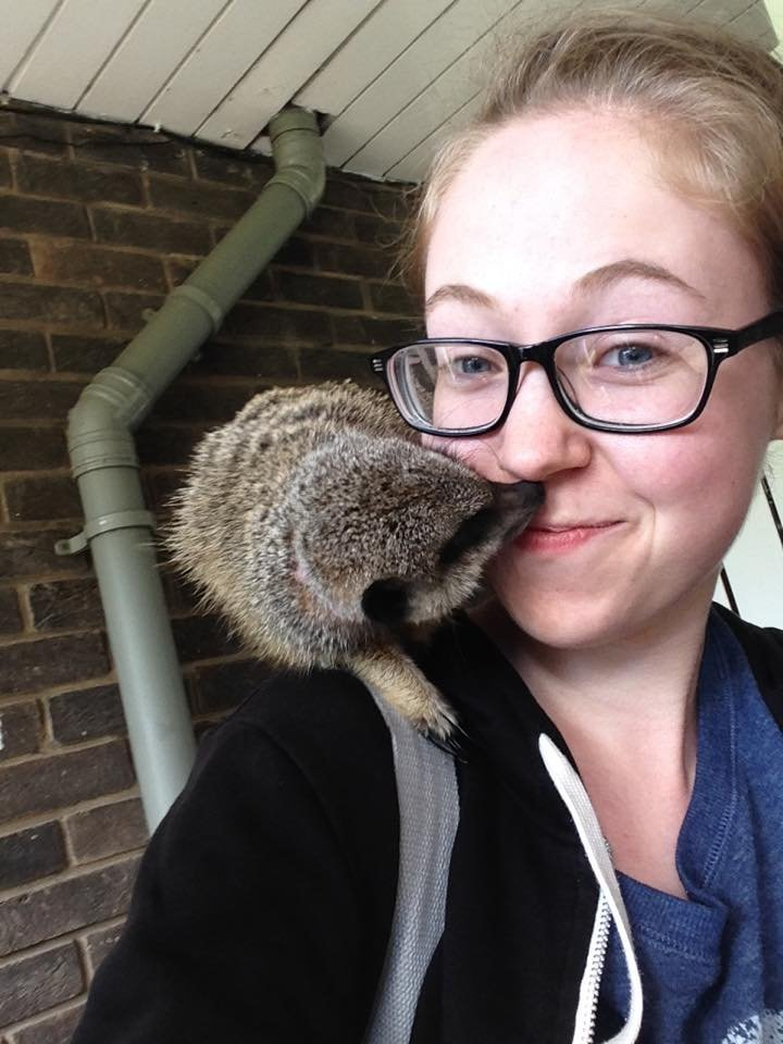 Ellen Higginbottom, who was murdered in June, is seen cuddling up to an animal