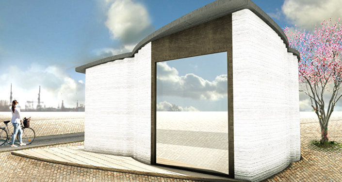 Europe's first 3D printed building