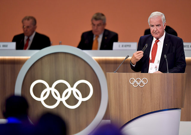 International Olympic Committee (IOC) and World Anti Doping Agency (WADA) Sir Craig Reedie member delivers his report on doping during the 131st IOC session in Lima