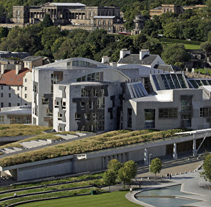 The Scottish Parliament building is pictured in the Holyrood area of Edinburgh, on September 30, 2008