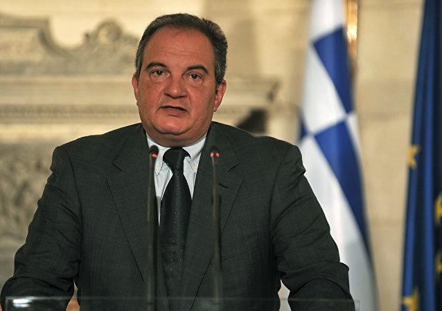 Former Greek Prime Minister Costas Karamanlis. (File)