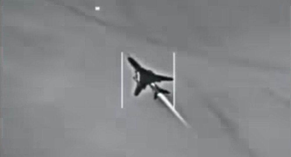 Su-22 Fitter flying over Syria