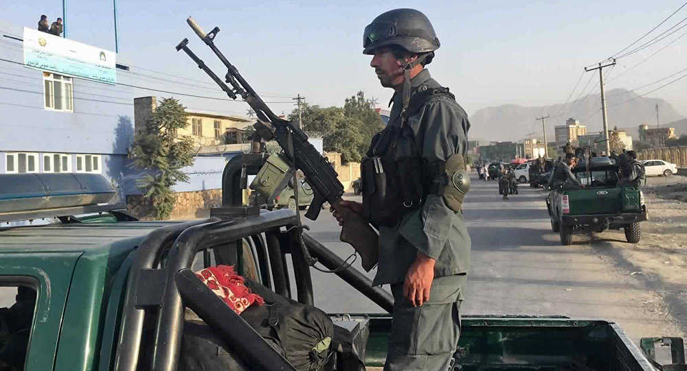 Afghan security police (File)