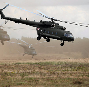 Polish Mi-17 helicopters are seen during Dragon-17 military exercises at the military range near Drawsko Pomorskie, Poland, September 21, 2017