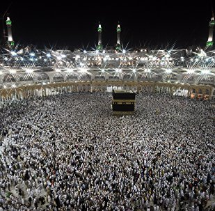 Pilgrims during hajj walk around the Kaaba at the Al-Masjid al-Haram mosque in Mecca. (File)