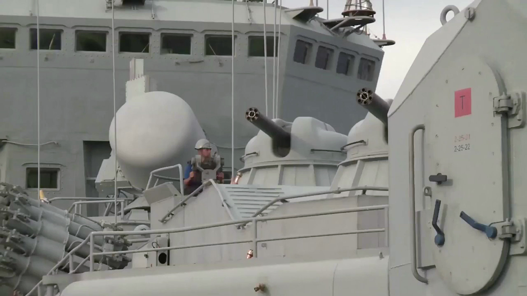 AK-630s aboard the guided missile cruiser Moskva