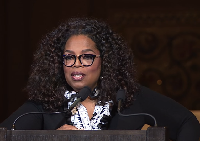 Oprah Winfrey speaks at Stanford University