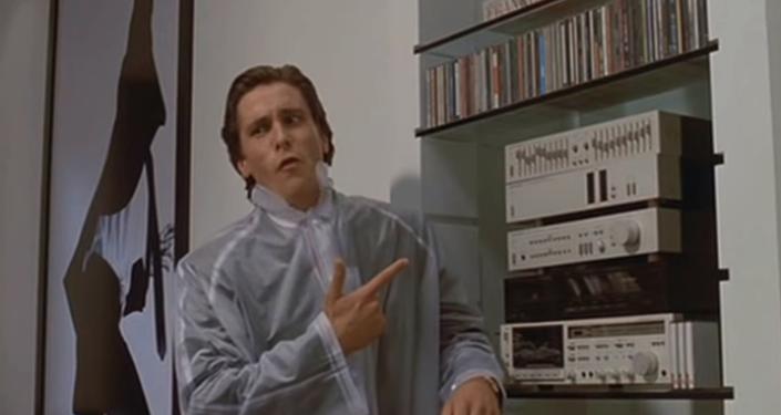 Christian Bale as Patrick Bateman in the 1999 film American Psycho.