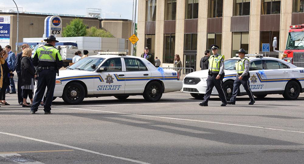 Police in Edmonton, Canada