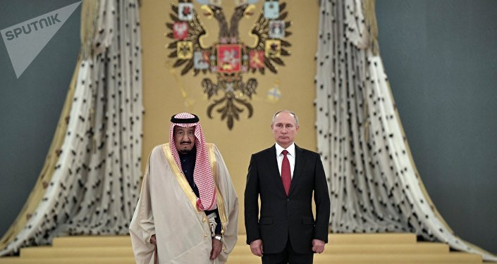 Russian President Vladimir Putin's talks with King Salman bin Abdulaziz Al Saud of Saudi Arabia