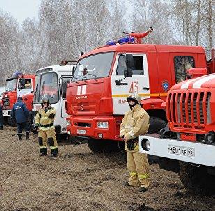 Учения МЧС по ликвидации лесных пожаров в Челябинской области