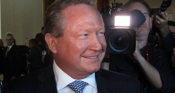 Iron ore mining magnate Andrew Forrest arrives at Australia's Parliament House in Canberra, Monday, May 22, 2017
