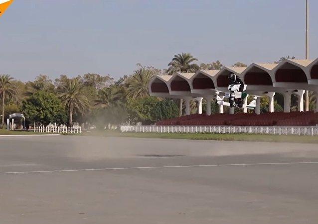 Motorbike-Drone Hybrid in Dubai
