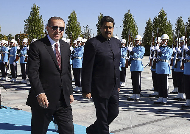 Venezuelan President Nicolas Maduro arrives in Ankara to meet with Turkish President Recep Tayyip Erdogan, October 6, 2017