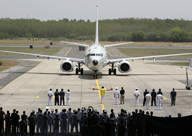 A Boeing P-8I aircraft arrives for its induction at the Naval Air Station Rajali in Arrakonam, some 58 miles from Chennai, India. (File)