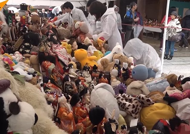 Farewell Ceremony With Dolls And Toys in Tokyo